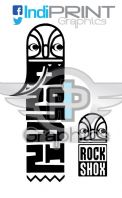 2007 Rock Shox Domain Fork Decals